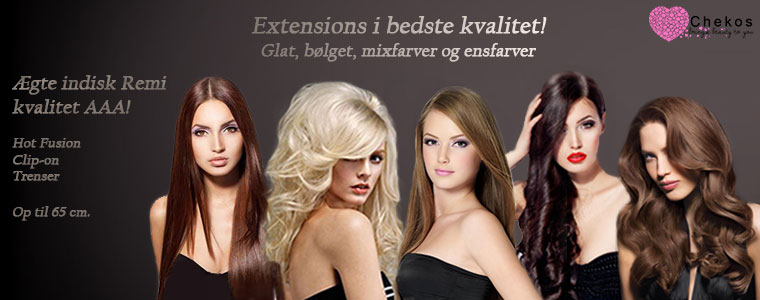 Hot Fusion, clip-on og trenser h�r extensions