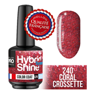 Hybrid Shine System - 240 Coral Crossette, 8 ml