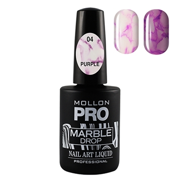 Marble Drop 04 Purple - Marmor nail art