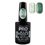 Marble Drop 06 Green - Marmor nail art