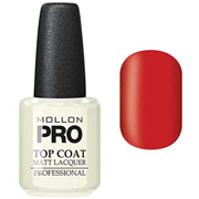 MOLLON PRO Matt Lacquer Top Coat - 15 ml.