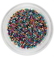 Nailart beads farvede ca 0,5 mm
