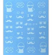 Negle stickers - Moustache