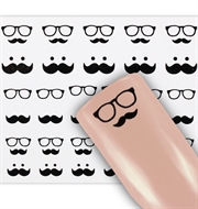 Negle Stickers - Movember - Vandstickers